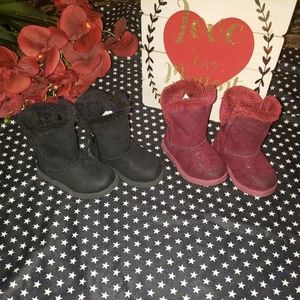 Bundle Of Toddler Girls Faux Fur Lined Boots